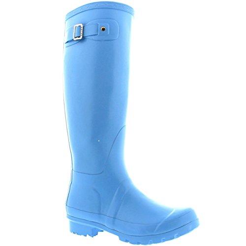 Damen Original Tall Gloss Winter Wasserdicht Regen Gummistiefel Stiefel Hellblau