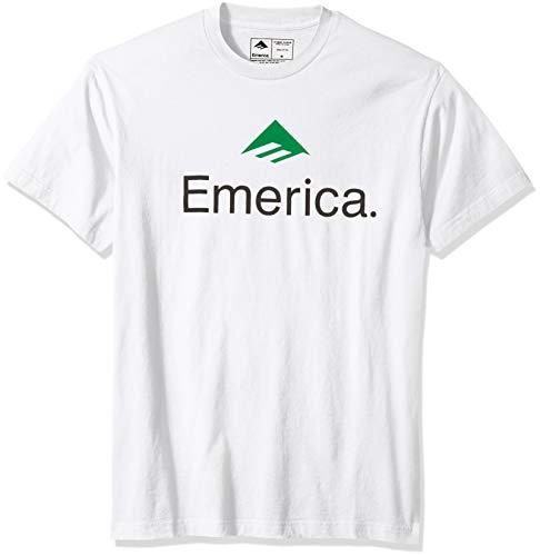 Emerica Herren Skateboard Logo T-Shirt, weiß, Groß
