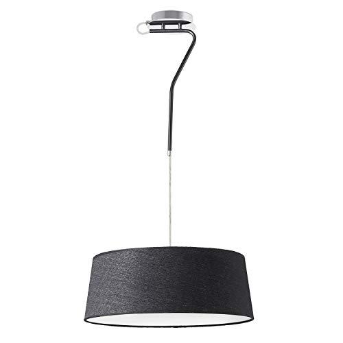 Ilumina tu hogar con este colgante de diseño moderno HOTEL fabricado en metal y pantalla textil. Diseñada por: Alex & Manel Lluscà.