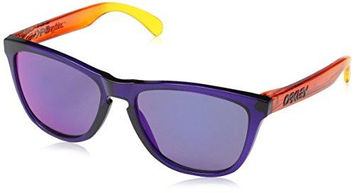 Oakley Herren Sonnenbrille OO9013-43 Frogskins (55 mm) Mehrfarbig (blau/rot_