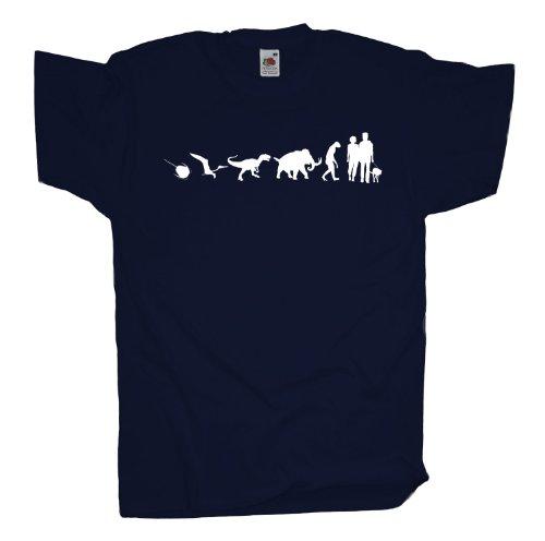 Ma2ca - 500 Mio Years - Hund Gassi gehen T-Shirt Navy