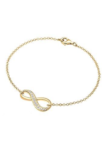 Elli-Damen-Armband-Infinity-Unendlichkeit-925-Silber-Zirkonia-gold-Brillantschliff-18-cm-0208940515-18