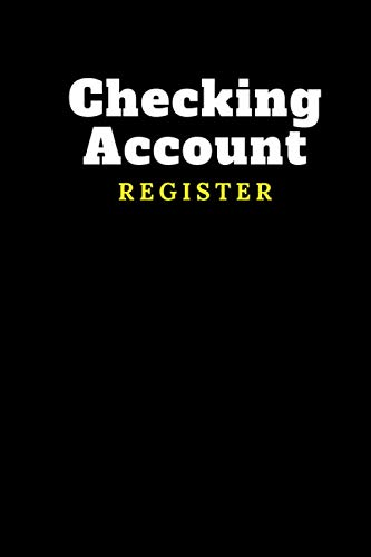 Checking Account Register: Recording & Tracker Logbook