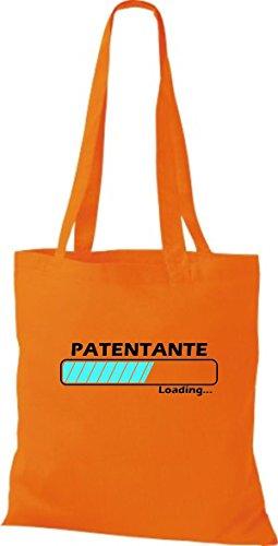 Jute Stoffbeutel Patentante Loading viele Farben orange