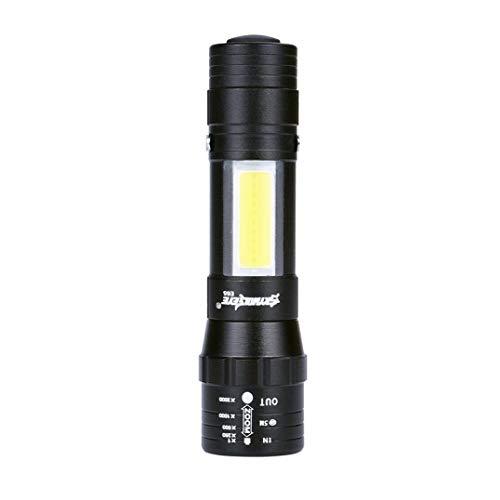 Most Powerful Cob Flashlight Spotlight Hunting Flashlight Xml T6 Flashlight 18650 Charge Bicycle Light Torch Lampe Torche Elegant In Smell Led Flashlights Led Lighting