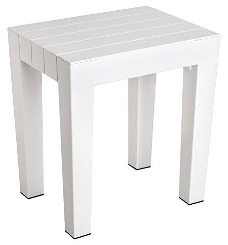 Tatay 4436501 – panca multiuso / sgabello modello lombok di alta resistenza e sicurezza in colore bianco, dimensioni 38 x 29 x 41 cm