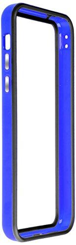 Horny Protectors iP5c-4012c TPU Silikon Schutzhülle für Apple iPhone 5c (nicht 5S) transparent/gelb Dunkelblau Schwarz chrome