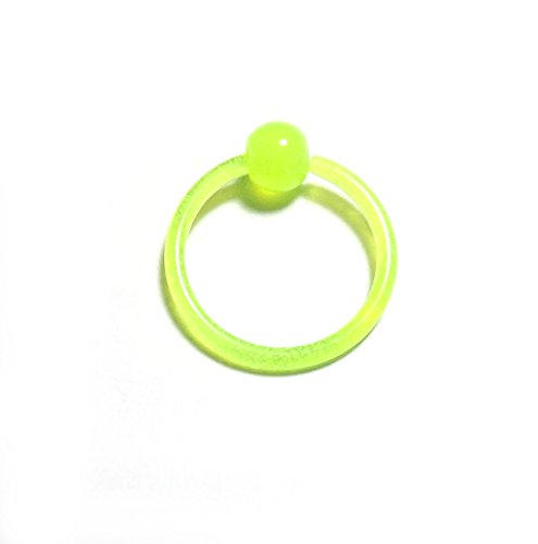 KKR21/Piercing-dreams Klemmkugelring Glow in the Dark grün 1,6 x 12 mm flexi (Glow In Lippe Dark The Ring)