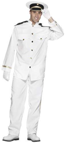 Smiffy's Captain Costume Disfraz de capitán de Smiffys, color blanco, S-Size 34