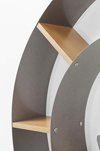 Wandregal Snail, dekoratives Schneckenregal für Bücher und CDs - 5
