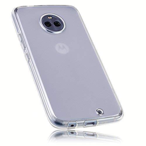 mumbi Schutzhülle für Motorola Moto X4 Hülle transparent weiss