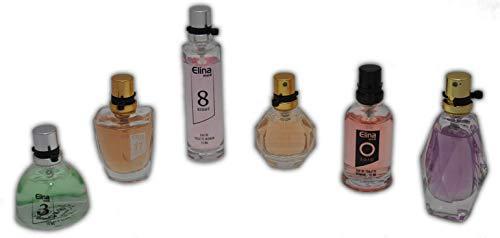 Trend Düfte: Set X 6 Parfüm für Damen 15 ML jedes einzeln in Box Spray Black Onyx (Eau de Parfum) + Geschenk Tasche gratis