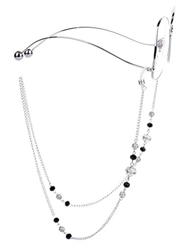 Mini Tree Brillenketten für Lesebrillen Brillenband Frauen Silber Lesebrille Kette mit Hohlperlen Brille Kette Sonnebrillen Band Lesebrillen Kette Lesebrillen Band Brille Cords Hals Cord Strap