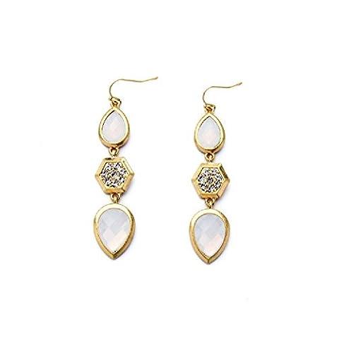 Fun Daisy Fashion Ear Jewelry Cute Simple Fresh Water Drops Pendant Female Earrings - ed01184