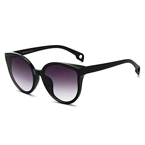 Sonnenbrille Cat Eye Frauen Männer Sonnenbrille Brillen Brillen Kunststoffrahmen Klare Linse Uv400 Schatten Mode Fahren Neu (Lenses Color : C4)