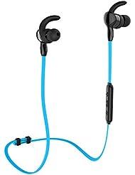 Casque Bluetooth aminy IPX7étanche sans fil Bluetooth 4.1Casque écouteurs Sport écouteurs stéréo tour de cou avec microphone pour Course à Pied Musique compatible avec iOS, Android, Smartphones et Appareils Bluetooth, bleu