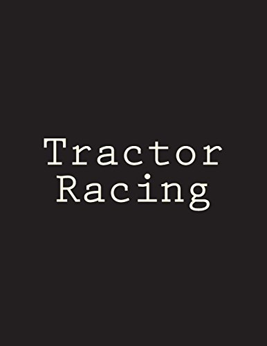 Tractor Racing: Notebook Large Size 8.5 x 11 Ruled 150 Pages por Wild Pages Press