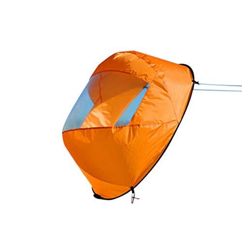 FBGood Neue!!! Kajak Wind Segel, Kanu Zubehör Faltbare Downwind Boot Segel Popup Kajak Segel Angelboote Sportsegel mit Klarem Fenster Tragbar & Kompakt & Einfaches Setup & Schnell Einsetzbar (Orange)