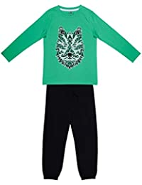 Ventra Boys Fox Nightwear Green