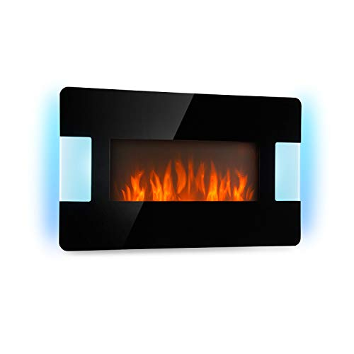 Klarstein Belfort Light & Fire Chimenea eléctrica con Efecto llameante - Chimenea...