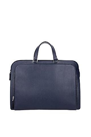 Serviettes Prada Homme Cuir Baltique VR0023BALTICO Bleu 7x28.5x40.5 cmEU