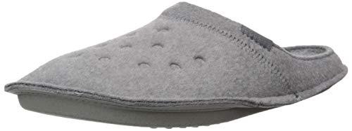 Crocs Classic Slipper, Unisex-Erwachsene Niedrig, Classic Slipper-Charcoal/Charcoal, 43/44 EU