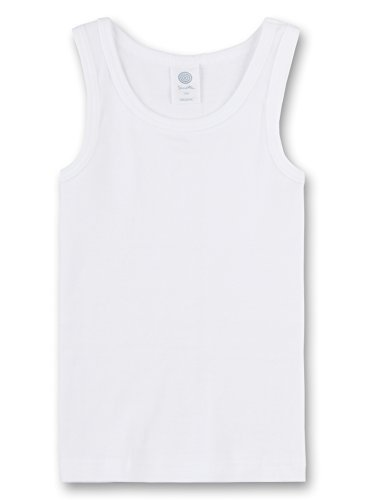 Sanetta Shirt o.Arm FR 300000 Jungen Unterwäsche/Unterhemden, Gr.152, Weiß(10) (Jungen Unterhemd)