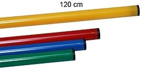 agility sport pour chiens - jalon, longueur 120 cm, Ø 25 mm, jaune - 1x 120y