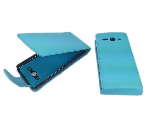 handy-point Flip Case Klapphülle Klapptasche Tasche Hülle Schutztasche Schutzhülle für Huawei Ascend Y530 mit EC-Kartenfach, Blau