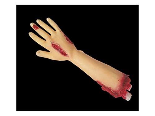 Komisch Simulation Arm Requisiten Körperteil Orgel Horror Bloody Zombie Streich Spielzeug Dekorationen für Halloween (Narbe Gebrochener Arm) für die Dekoration