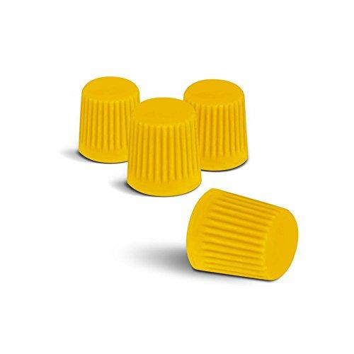 Preisvergleich Produktbild Farbige Ventilkappen (Gelb) passend für alle PKW. Ein Highlight für jede Radkappe oder Radzierblende!