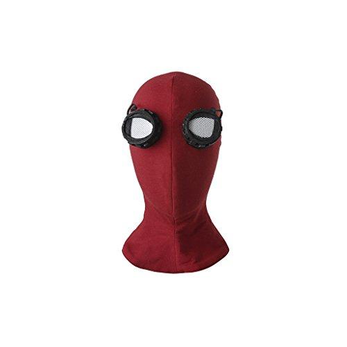 e Kopfmaske Kostüm Zubehör für Halloween Spiel Maskerade Party (One Size, Rot) (Hut Halloween Kostüme Maske)