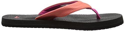 Sanuk Yoga Mat Kids 29418140 Mädchen Zehentrenner Hot Coral/Fuchsia