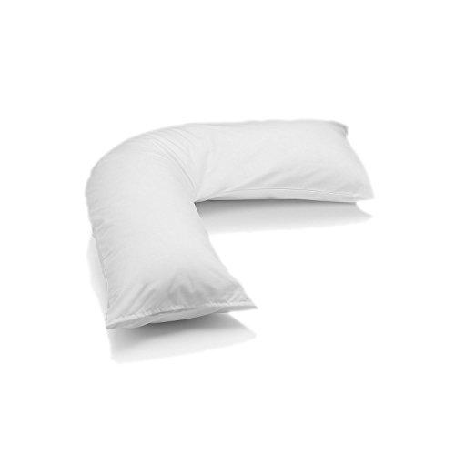 hachette-100-egyptian-cotton-200-thread-count-white-v-shaped-plain-dyed-back-neck-support-orthopedic