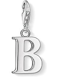Thomas Sabo Damen-Charm-Anhänger B Buchstabe Charm Club 925 Sterling Silber 0176-001-12