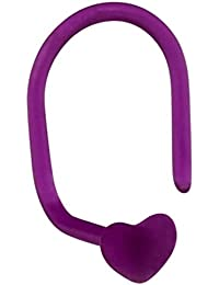 weiche Bioflex Nasenstecker. 0,8mm Spurweite mit 3mm Herz TOP in lila