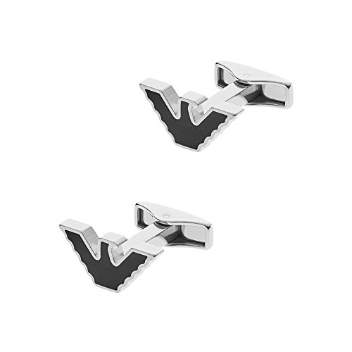 Emporio Armani Men\'s Stainless Steel Eagle Logo Cufflinks EGS2287040 in Gift Box