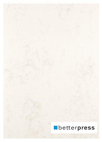 Betterpress® 50 Blatt Marmorpapier beige 200g, A4 - Beidseitig Marmorierter Karton in hochwertiger Qualität - Premium Marmorkarton chamois ideal als Speisekarte, Zertifikat und Urkunde