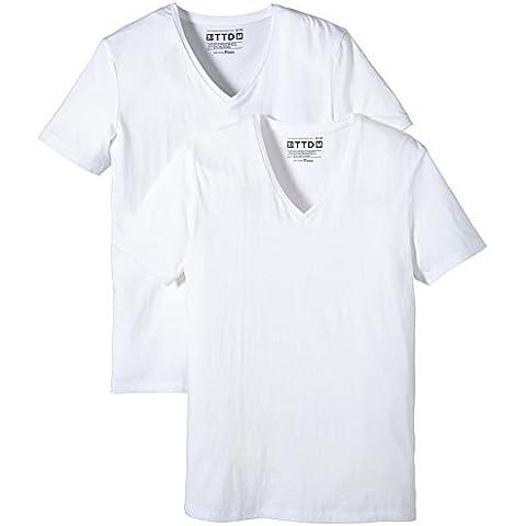 Tom Tailor Denim Basic V-neck Doublepack/412 - Camiseta Hombre