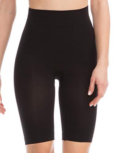Farmacell Bodyshaper 603B (Nero, XXL) Pantaloncino Short Contenitivo e Modellante con pancera Fibra NILIT Breeze Leggera e rinfrescante