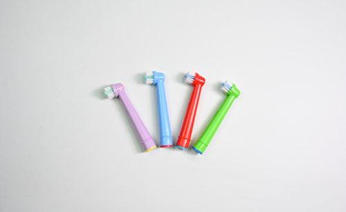 oral-q Standard Elektrische Zahnbürste Ersatz Köpfe passt für Kinder für Braun Oral-B (EB10-4), 4 PCS (1 Pack) zufällige farbe
