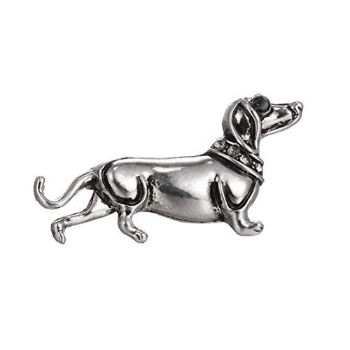 Kissherely Nette Metall Dackel Hund Brosche Frauen Emaille Pin Tier Abzeichen Schmuck Zubehör (Weiß) (Broschen Pins Tier Und)