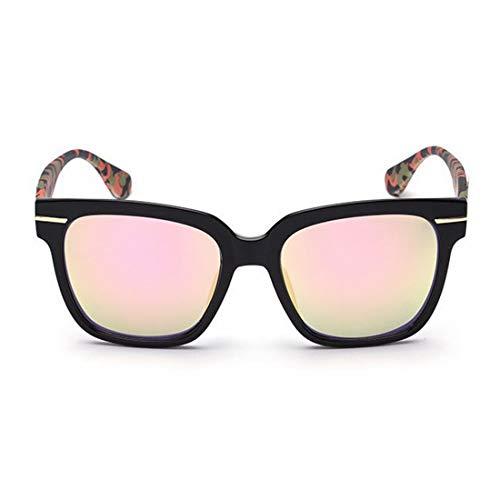 Yiph-Sunglass Sonnenbrillen Mode Camouflage Leg Full Frame Retro-Sonnenbrille für Frauen Männer UV-Schutz für die Fahrt im Freien. (Farbe : Rosa)