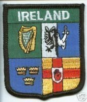 PROVINCE BANDIERA IRLANDA 4 PATCH RICAMATO BADGE WORLD
