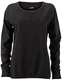 James & Nicholson Women's JN991 Basic Sweatshirt black M