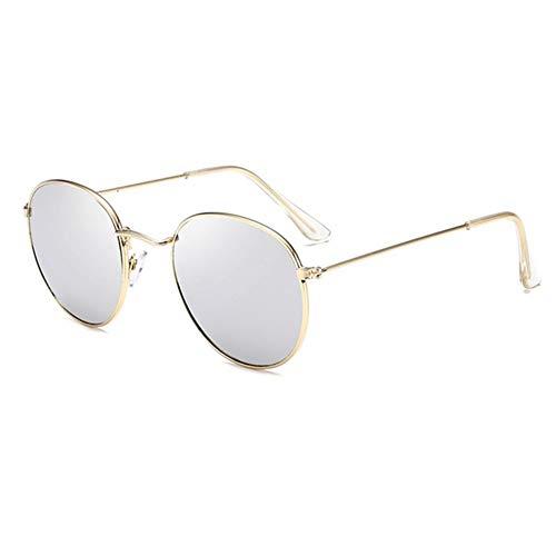Sonnenbrille Retro Runde Sonnenbrille Frauen Männer Designer Sonnenbrillen Für Frauen Legierung Spiegel Sonnenbrille Kleine Gesicht Frauen Gold Silber