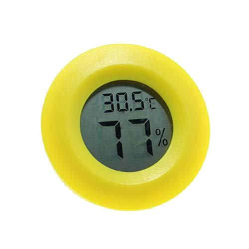 Robluee Digitales Thermometer rund LCD Reptil Thermometer Hygrometer Temperatur Tester für Eidechse Spinne Schildkröte Terrarium Tank Vivarium 1 Stück (Temperatur Schildkröte)