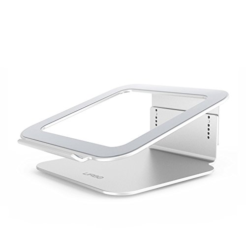 Urbo verstellbarer Laptop Ständer mit Kühler für Laptops, Notebooks (u.a. passend für Apple, HP, Lenovo, Dell, Acer, Samsung, Asus, Sony und mehr)