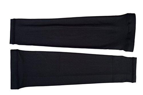 Manchette Couvre-bras Manchon de Compression Coudière Protection UV Respirant Séchage Rapide Léger Polyester Lycra Pour Tennis Football Golf Noir L