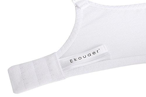 Ekouaer Souple Soutien-Gorge Non-Rembourré Armature Dentelle Minimiseur Blanc